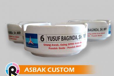 jasa cetak asbak logo perusahaan iklan promosi souvenir merchandise