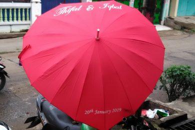 payung cinta bentuk love merah hati unik reka merchandise